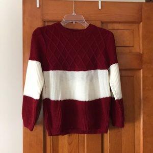 """Oversized"" varsity sweater"